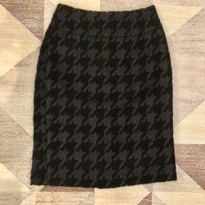 Houndstooth High Waist Pencil Skirt